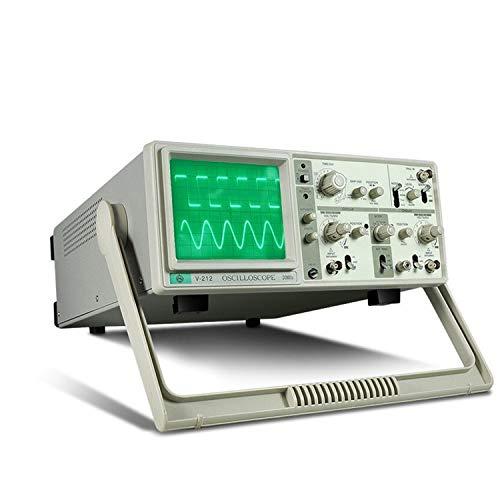 Exacta MCH V-212 Osciloscopio analógico de doble traza 20MHz 6 pulgadas Pantalla grande Canales duales duradero (Size : 220V)