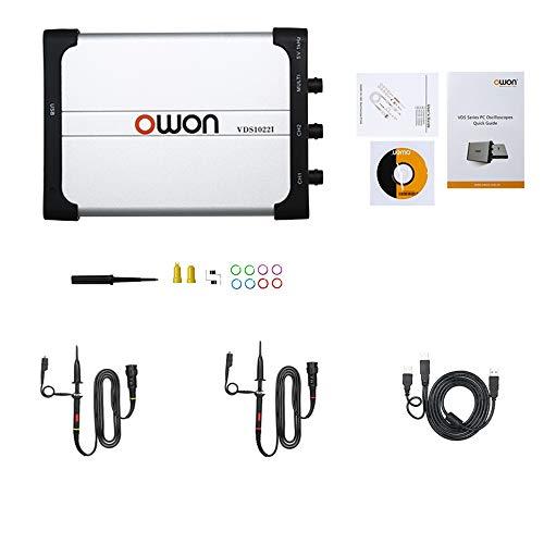 Owon VDS1022I osciloscopio virtual de doble canal ancho de banda de 25 m USB aislamiento 100MS/S tasa de muestra