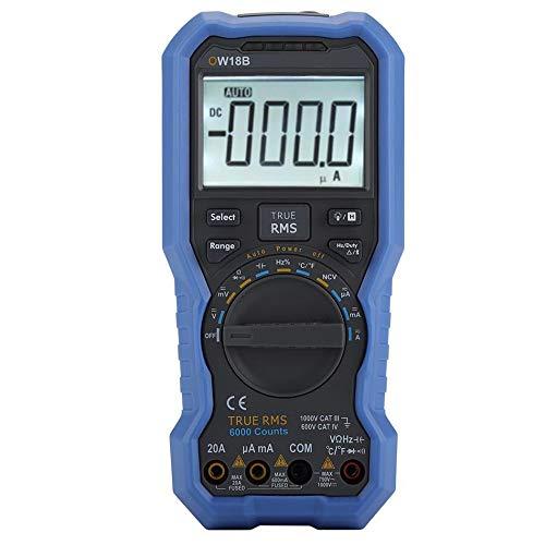 OWON OW18B Multimetro Bluetooth Digital Tester Registrador de Datos Termómetro True RMS Flashlight NCV Voltaje sin Contacto Sense