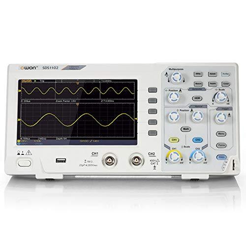 OWON SDS1102 Osciloscopio 2-Channel Digital Oscilloscopes 100MHZ Bandwidth 1GS/s High Accuracy Oscilloscope