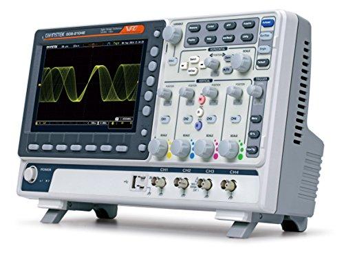 GW Instek GDS-2204E - Osciloscopio de almacenamiento digital (puerto USB, pantalla LCD a color de 8', ancho de banda de 200 MHz, 4 canales, tiempo de subida 1,75 ns)
