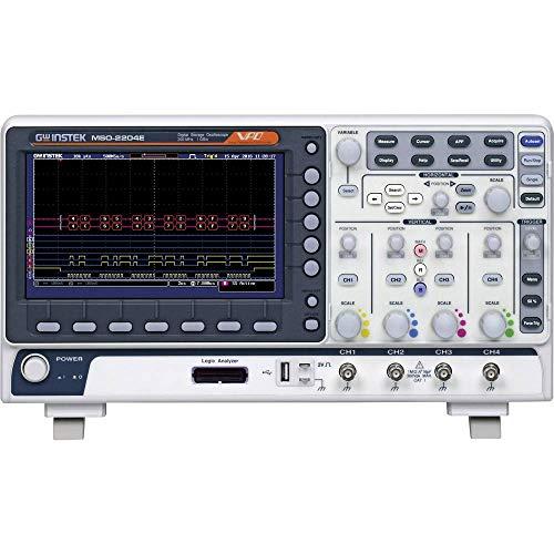 GW Instek MSO-2204E osciloscopio de señal mixta, 4+16 CH, 200 MHz